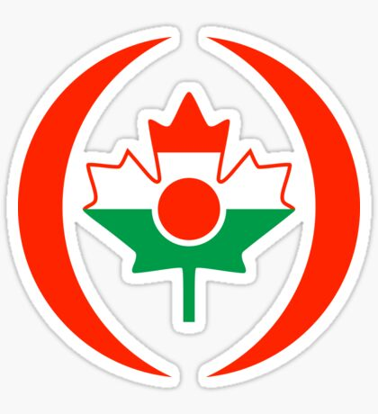 Niger Canadian Multinational Patriot Flag Series Sticker
