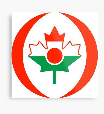 Niger Canadian Multinational Patriot Flag Series Metal Print