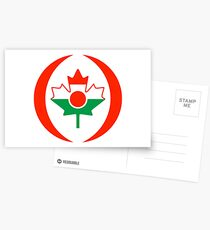 Niger Canadian Multinational Patriot Flag Series Postcards