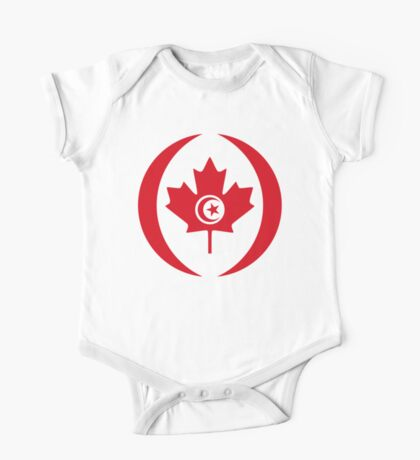 Tunisian Canadian Multinational Patriot Flag Series Kids Clothes