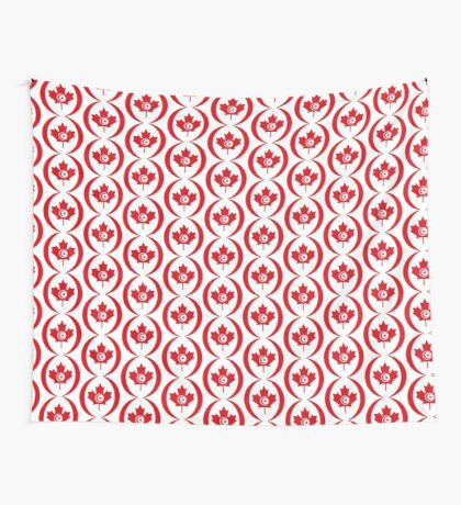 Tunisian Canadian Multinational Patriot Flag Series Wall Tapestry