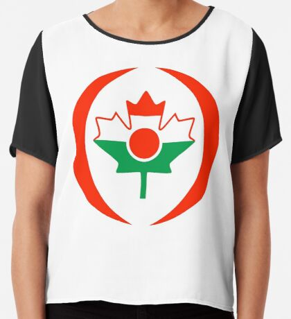Niger Canadian Multinational Patriot Flag Series Chiffon Top