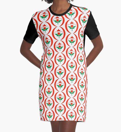 Niger Canadian Multinational Patriot Flag Series Graphic T-Shirt Dress