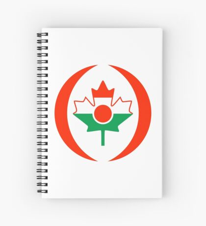 Niger Canadian Multinational Patriot Flag Series Spiral Notebook