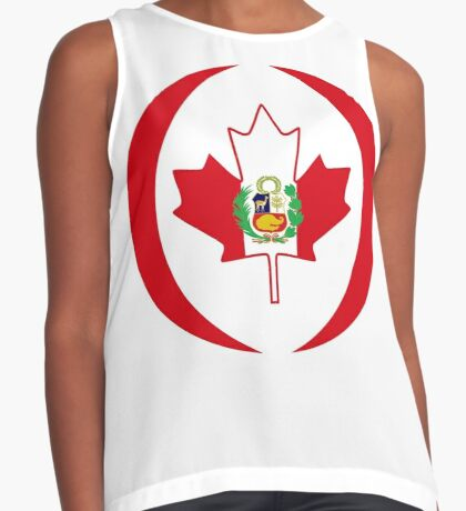 Peruvian Canadian Multinational Patriot Flag Series Sleeveless Top