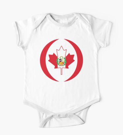 Peruvian Canadian Multinational Patriot Flag Series Kids Clothes