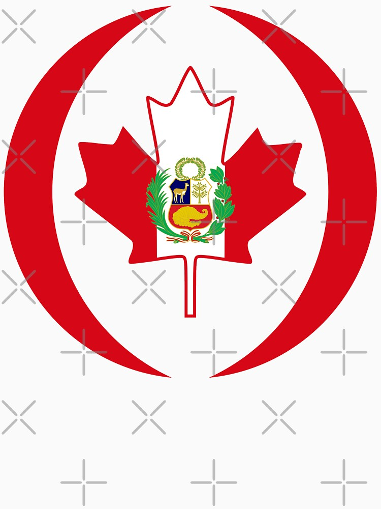 Peruvian Canadian Multinational Patriot Flag Series by carbonfibreme