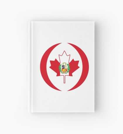 Peruvian Canadian Multinational Patriot Flag Series Hardcover Journal