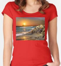 Loved by the Sun (Art & Poetry) Women's Fitted Scoop T-Shirt