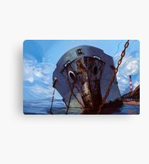 Hometown Ghost Ships Canvas Print