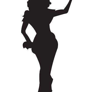 RuPaul Silhouette  by papabaird