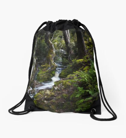 The silence of contemplation Drawstring Bag