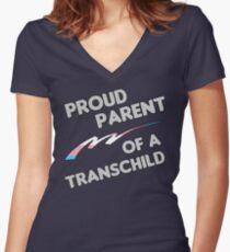 Proud Trans child Parent Women's Fitted V-Neck T-Shirt