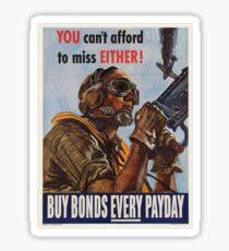 Vintage poster - War Bonds Sticker