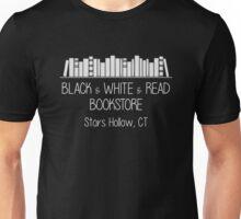 Gilmore Girls - Black & White & Read Bookstore (white text) Unisex T-Shirt