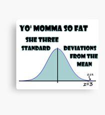 Statistical Diss Canvas Print