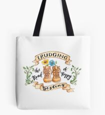 Trudging the Road of Happy Destiny Tote Bag