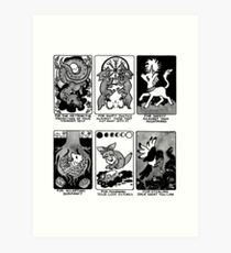 Sigils for Trauma and Recovery -- Tighter Crop Art Print