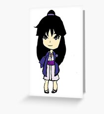 Maya Fey Chibi Greeting Card