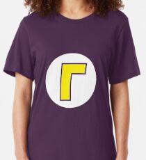 Waluigi Symbol Slim Fit T-Shirt