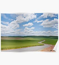 Road Winding Through the Palouse Wheatfields Poster