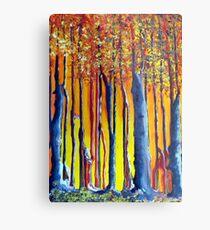 In the shadow of a poplar tree Metal Print