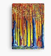 In the shadow of a poplar tree Canvas Print