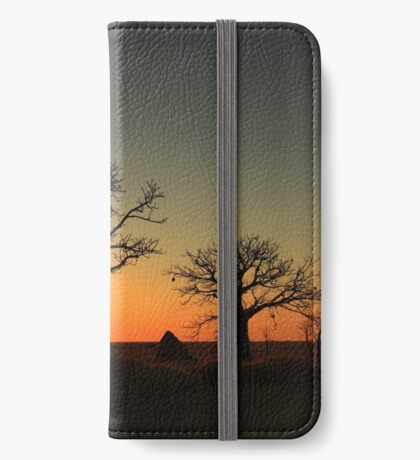 Sunset on the flats iPhone Wallet
