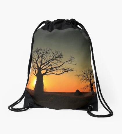 Sunset on the flats Drawstring Bag