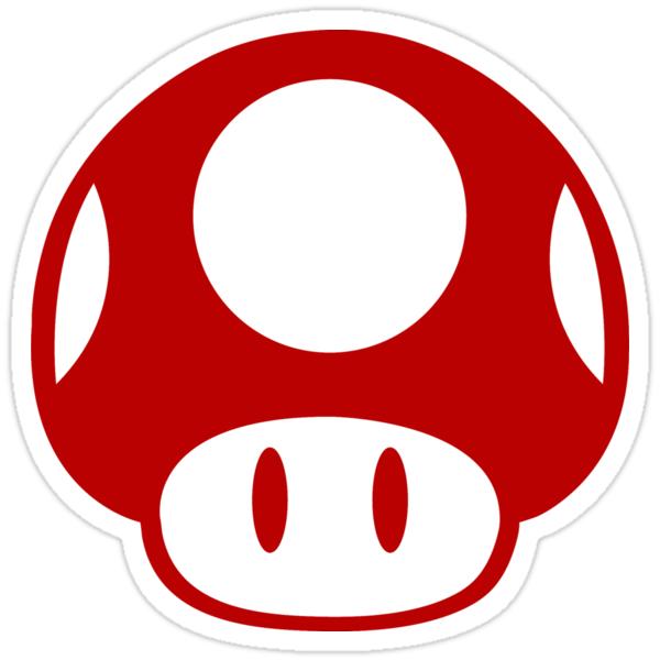 Quot Super Mario Bros Mushroom Logo Quot Stickers By Mrpickle255