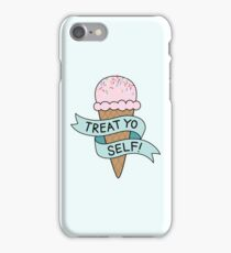 TREAT YO SELF Parks and Rec iPhone Case/Skin