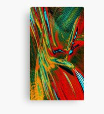 Red Yellow Green Abstract Canvas Print