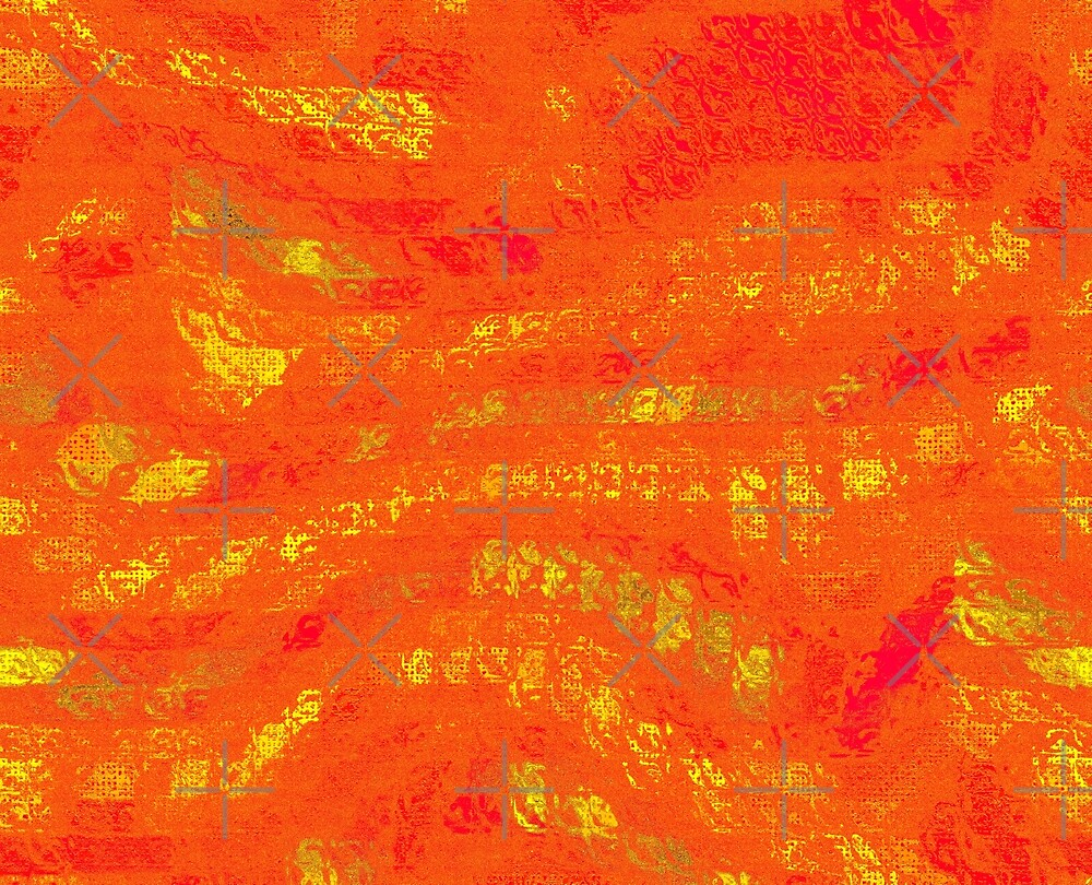 Red & Yellow Abstract by Buckwhite
