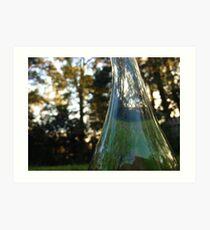 Distorted bottle Art Print