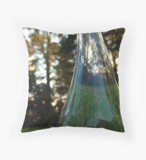 Distorted bottle Throw Pillow