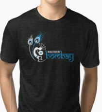 Wasted In Bombay - Blue Logo Promo Tri-blend T-Shirt