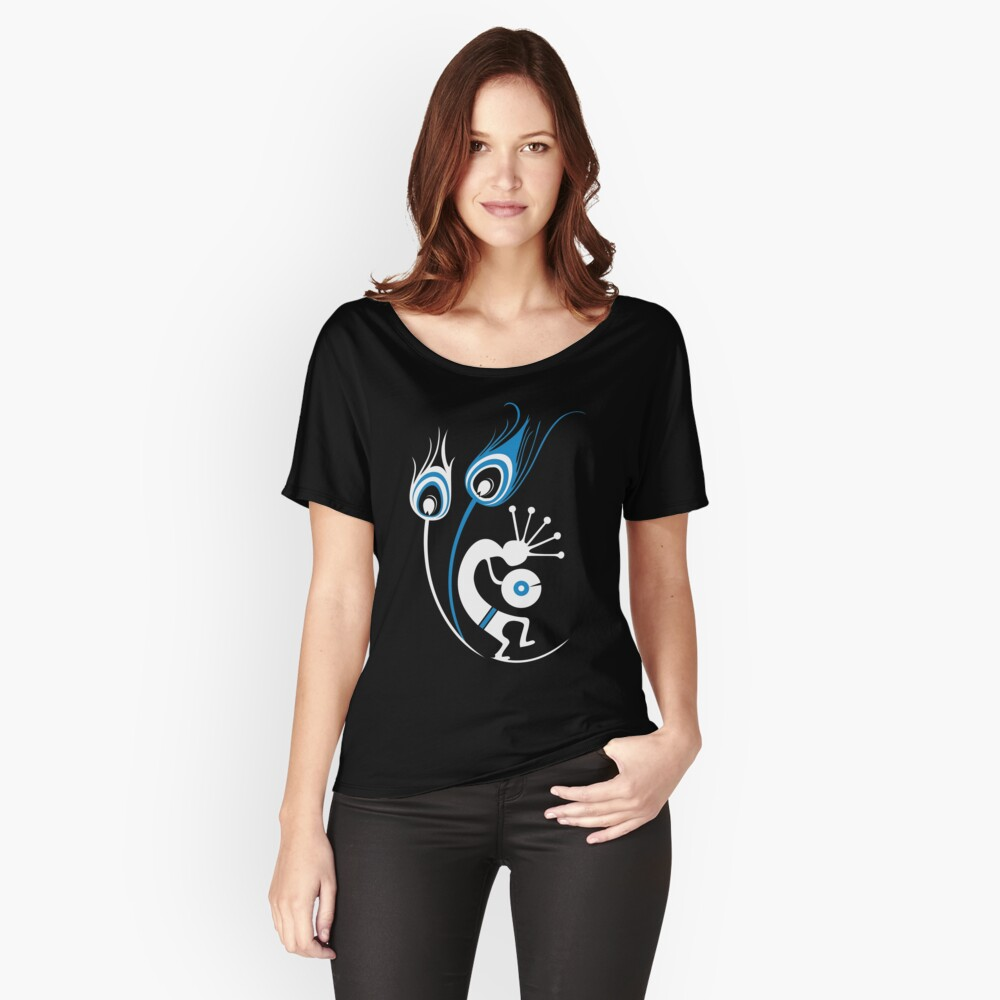 Wasted In Bombay - Blue Logo Promo Wordless Women's Relaxed Fit T-Shirt Front