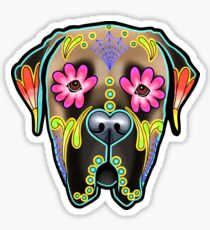 Mastiff in Fawn - Day of the Dead Sugar Skull Dog Sticker