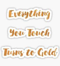 Golden Touch Sticker
