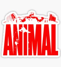 animal, fitness, muscle, strong, bodybuilding, logo, symbol, nutrition, vitamin, booster, barbell, club. Sticker