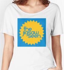 """The Jigsaw Seen """"Sunburst"""" graphic Women's Relaxed Fit T-Shirt"""