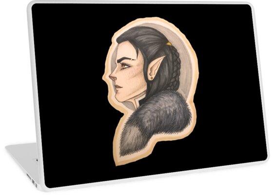 Vax Half Elf Rogue Laptop Skins By Shadocanary Redbubble