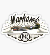 Warhawk P-40 Sticker
