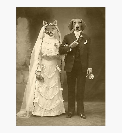 A marriage not made in heaven Photographic Print