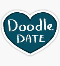 DoodleDate heart! Sticker