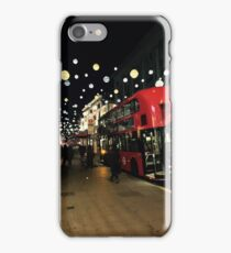 Midnight Oxford Street London in Christmas iPhone Case/Skin