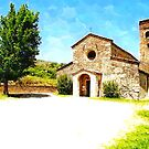 Pieve di Tho: church with tree by Giuseppe Cocco