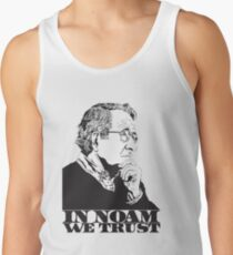 In Noam We Trust - Noam Chomsky Design - Liberal Activist, Author, Professor - Gift for Liberal and Political Science Majors Men's Tank Top
