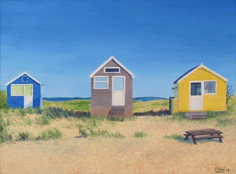 Hengistbury Beach Huts - r by Richard Paul