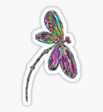 Dragonfly  Neon  Sticker